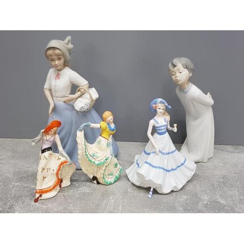5 lady figures includes coalport sentiments special celebration etc