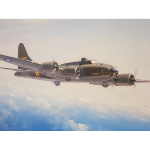 10 - Memphis Belle limited edition print by J.Young signed with Plaque, 70x80cm
