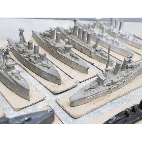 38 - Total of 17 Matchlock minatures naval warships