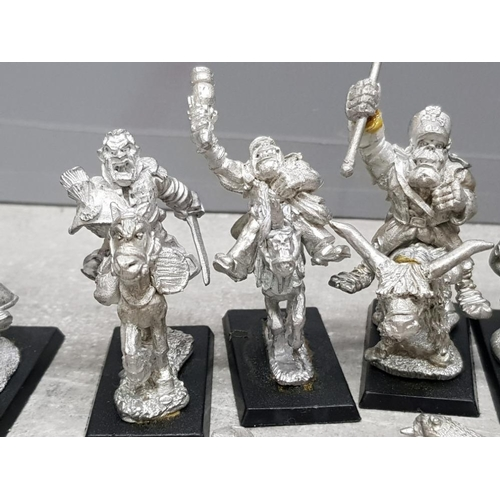 39 - Quantity of metal wargame minatures, includes orc cavalry etc, possibly by games workshop