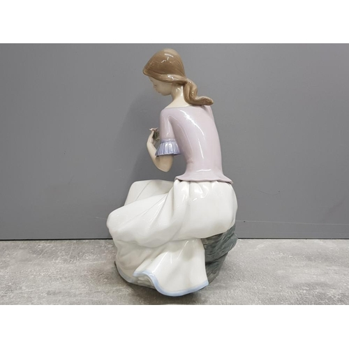 43 - Large Nao by Lladro figure 1392 spring reflections