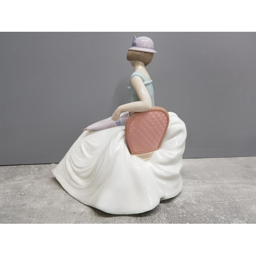 45 - Large Nao by Lladro figure 1400 a rainy afternoon