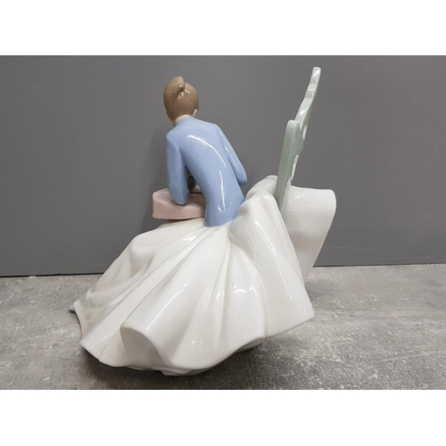 46 - Large Nao by Lladro figure 1355 playing with kitty