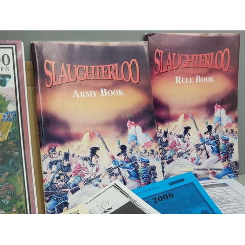 53 - Slaughterloo 2nd edition Napoleonique mass battle wargame by Alternative armies, box includes rulebo...
