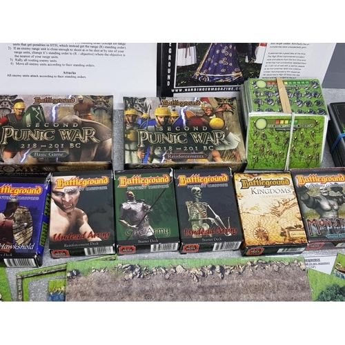 54 - A selection of accessories from the Battleground Historical and Fantasy warfare game, mainly charact...