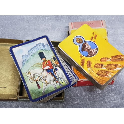 6 - WW2 Monty desert campaign playing cards, Royal scot Greys card and WW2 rolls razor all in original b...