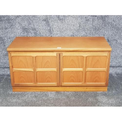 A Nathan Furniture teak TV cabinet 102 x 51 x 46cm.