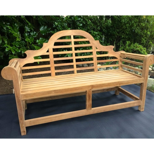 15 - NEW BOXED SOLID TEAK MARLBOROUGH BENCH