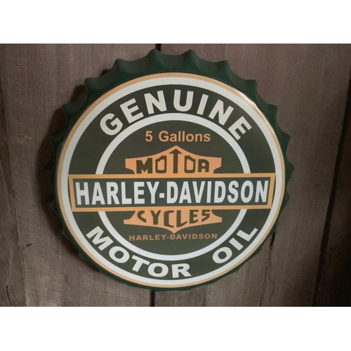 169 - 2 X TIN HARLEY SIGNS