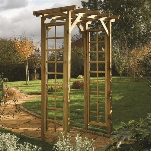 3 - NEW TRELLIS SIDE TREATED 2.1M TALL X 1.5M WIDE GARDEN ARBOUR ARCH