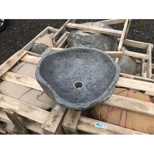 95 - 1 X NEW RIVER STONE SINK HIGHLY POLISHED