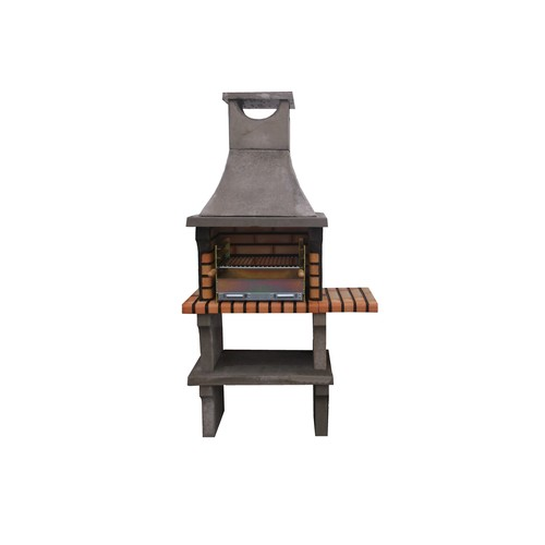 34 - CONTEMPORARY NEW/ PALLET AND BANDED outdoor Brick BBQ and chimney with PROFESSIONAL GALV FIRE TRAY ...