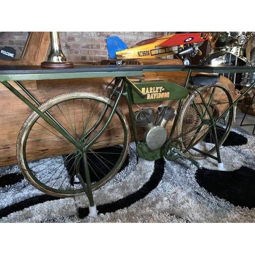 210 - LARGE HARLEY DAVIDSON MOTORCYCLE DESK BOXED