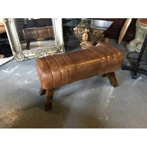 222 - NEW PACKAGED LARGE INDUSTRIAL STYLE POMMEL HORSE
