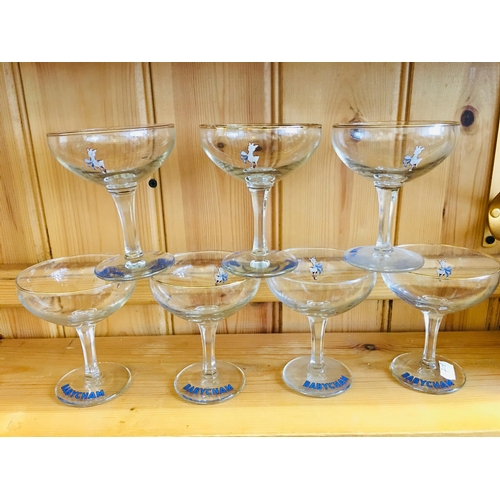30 - 7 Babycham Glasses...