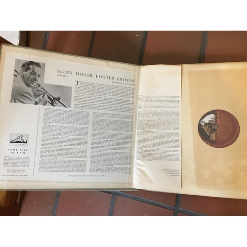 53 - Limited Edition Glen Miller and His Orchestra 33 Long PLay records in original folder...