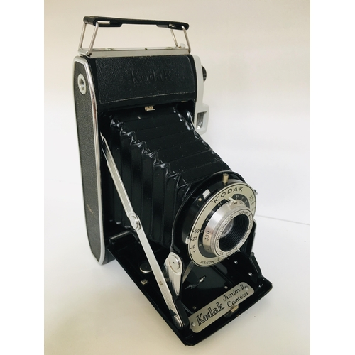 24 - Vintage Kodak Junior II Folding Camera complete with how to use book and original case, Circa 1954-5...