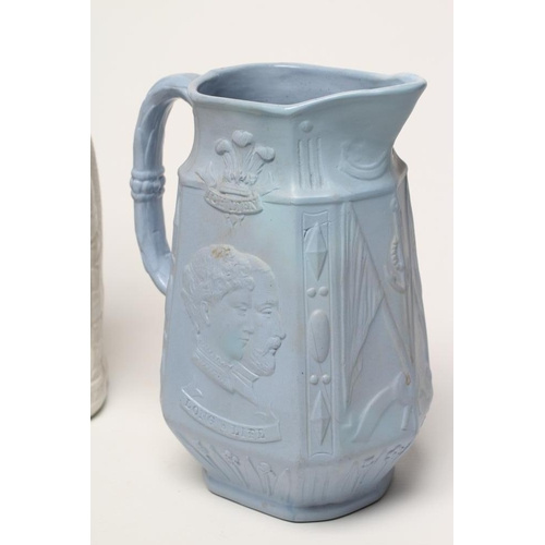 23 - OF ROYAL INTEREST - an Old Hall Earthenware Co. smear glazed stoneware jug mourning the death of the...