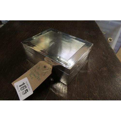 165 - SILVER CIGARETTE BOX...