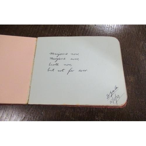 181 - AUTOGRAPH BOOK...