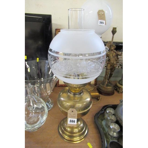 306 - BRASS OIL LAMP...
