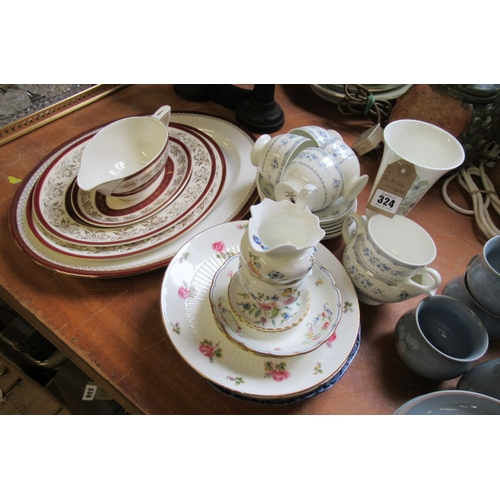 324 - QUANTITY OF MINTON AND WEDGWOOD...