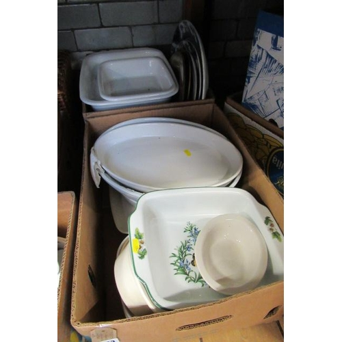 333 - TWO BOXES OF CASSEROLE DISHES ETC...