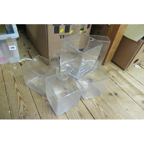 345 - BOX OF MISCELLANEOUS INCLUDING GLASS WARE...