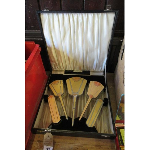 37 - CASED DRESSING TABLE SET