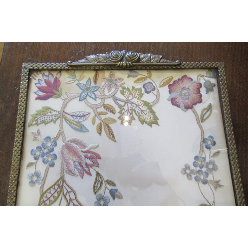 43 - EMBROIDERED TRAY...
