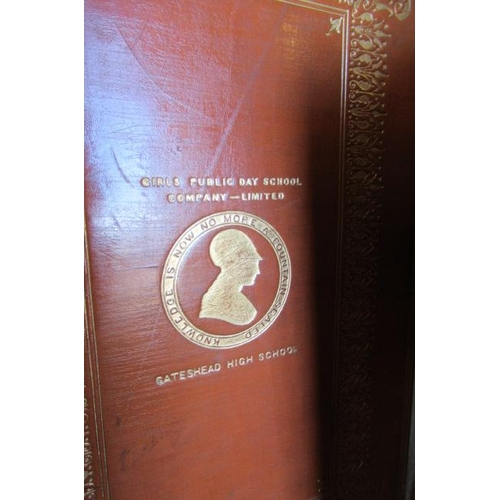 438 - FOUR LEATHER BOUND BOOKS...
