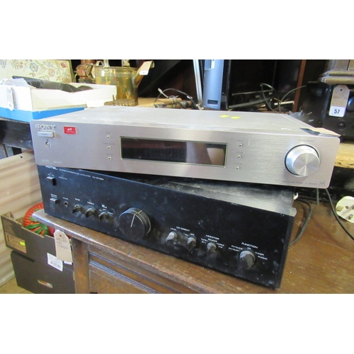 48 - ROTEL AMP AND SONY TUNER...