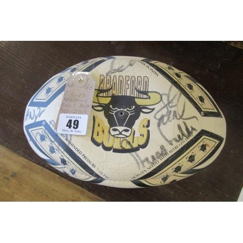 49 - SIGNED BRADFORD BULLS RUGBY BALL 2003...