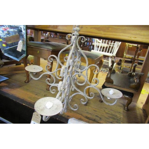 61 - FOUR CANDLE CHANDELIER...
