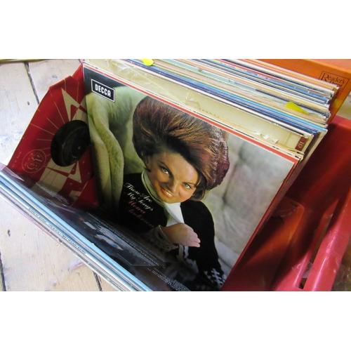 71 - BOX OF RECORDS INCLUDING POP ETC...