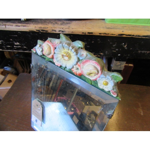 8 - DECORATIVE MIRROR WITH EASEL BACK...