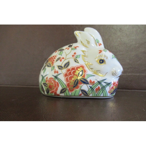398 - ROYAL CROWN DERBY MEADOW RABBIT...