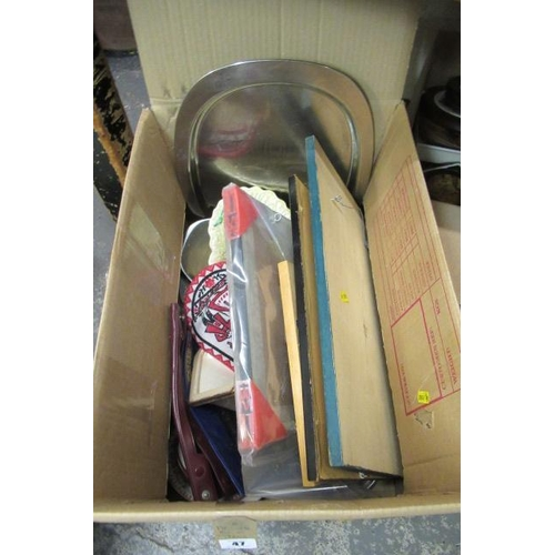 47 - BOX OF MISCELLANEOUS ITEMS