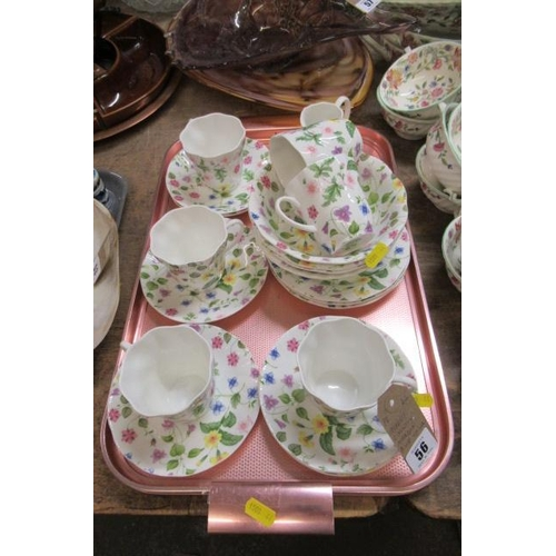 56 - QUEENS COUNTRY MEADOW BONE CHINA