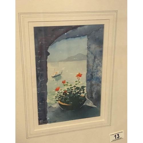 13 - Flowers by the sea watercolour by Kay Manning 14