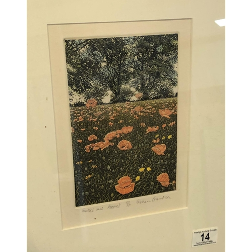 14 - Grasses and poppies by Graham Everden limited edition print 15
