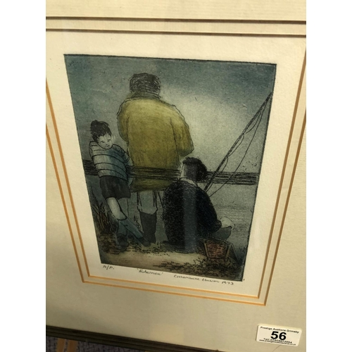 56 - Fisherman by C marianne unwin limited edition print 12