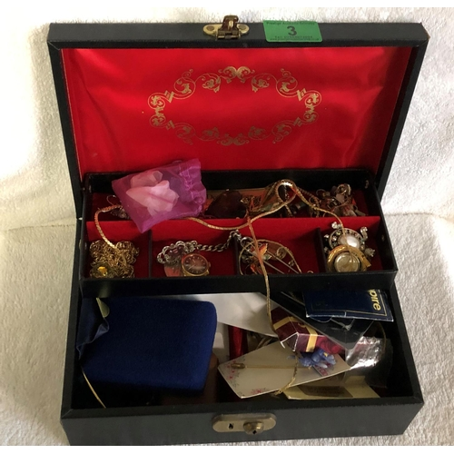 3 - Jewellery box full of assorted costume jewellery...