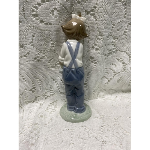 41 - NAO LITTLE GIRL WITH A DOLL FIGURINE 7.5