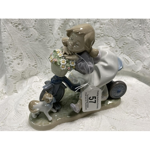 57 - LLADRO GIRL ON A TRICYCLE WITH A KITTEN 6