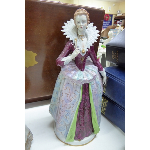 12 - Sitzendorf porcelain figure of costumes in the time of Henri IV...