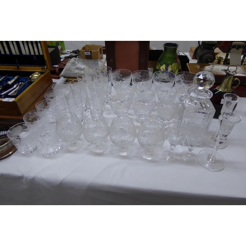 3 - A suite of Royal Brierley glasses...