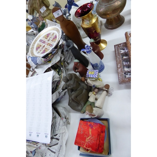 56 - A collection of ornaments, knick knacks, figures, etc....