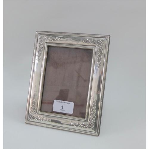 1 - Contemporary silver photograph frame, Francis Howard Ltd Sheffield 1988, 18 x 14cm...