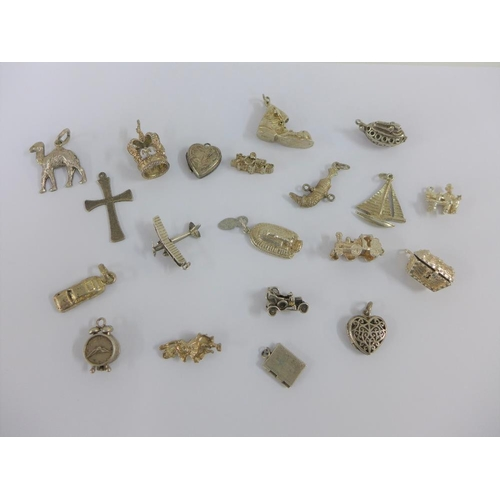 4 - Twenty various silver charms (20)...